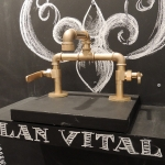 The Elan Vital bridge lavatory faucet.