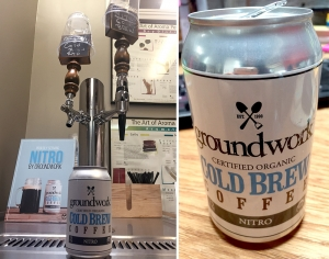 Groundwork Coffee's cold brew, on tap or canned