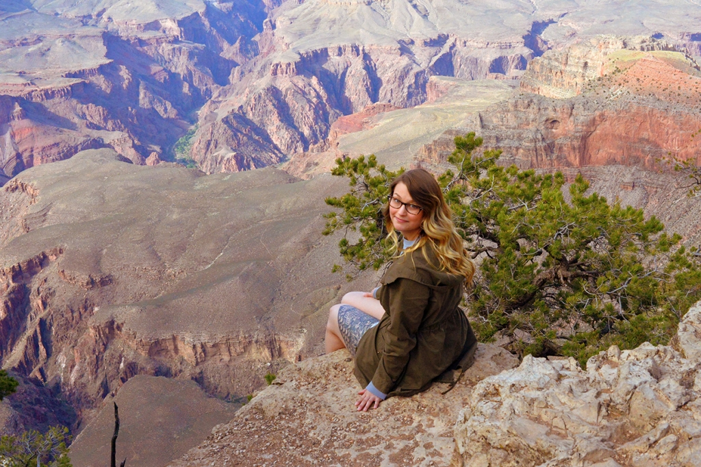 Ginger's initial experience of the Grand Canyon