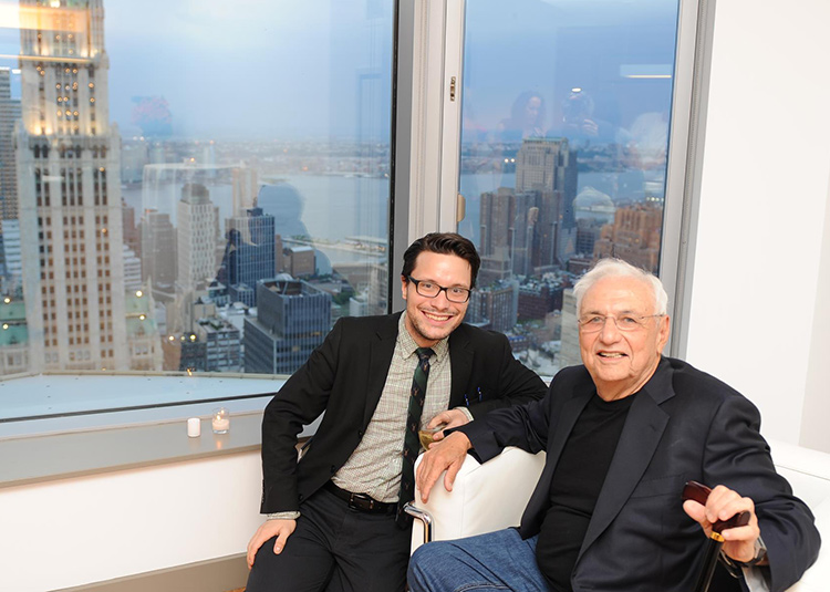 Andrew and architect Frank Gehry